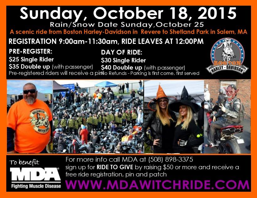 Halloween Ride Boston Harley
